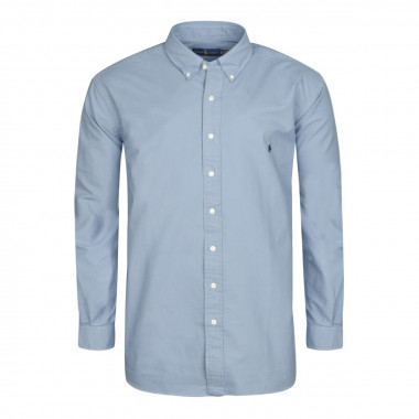 Chemise oxford bleu: grande taille du XL au 4XL