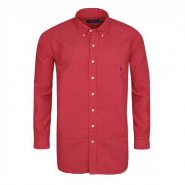 Chemise oxford rouge: grande taille du XL au 4XL