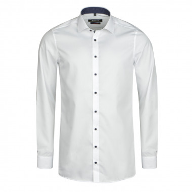 Chemise chambray blanc cintrée: manches extra-longues 72cm