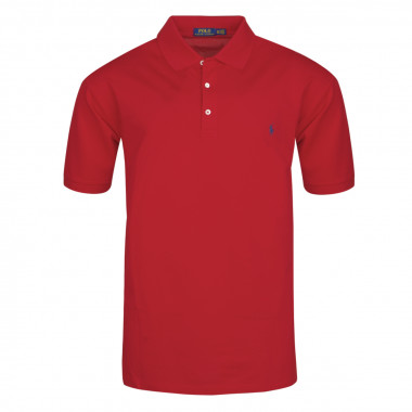Polo stetch rouge: grande taille du XL au 5XL