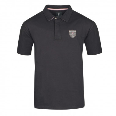 Polo jersey noir: grande taille du 2XL au 5XL