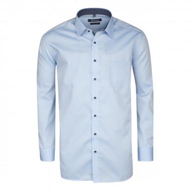 Chemise chambray bleu ciel: grande taille du 44 (XL) au 52 (5XL)