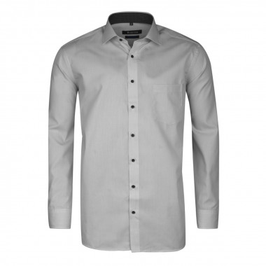 Chemise chambray micro rayures gris: grande taille du 44 (XL) au 50 (4XL)