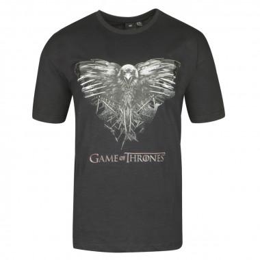 Tee-shirt Game of Thrones noir: grande taille du 2XL au 8XL