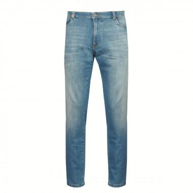 Jean bleu délavé: grande longueur de jambe 38US